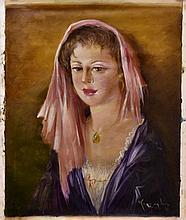 #20 Violetta de Koszeghy Oil on Canvas Painting