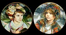 PAIR Royal Doulton F. Masseria Ltd. Edition Plates