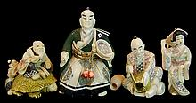 (4) Pcs. Japanese Carved Ivory Figure Lot #2