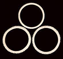 3 Carved Ivory Bracelet Bangles