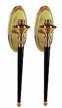 Brass Candle Sconce PAIR