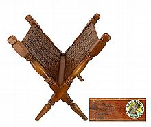 Old Hickory American Provincial Magazine Rack