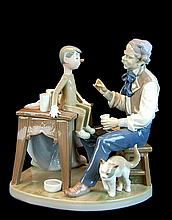Lladro Porcelain Figure 5396 - The Puppet Painter