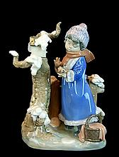 Lladro Porcelain Figure 5287 - Winter Frost