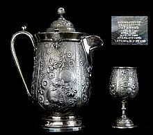 Victorian Reed & Barton Silverplate Pitcher & Cup