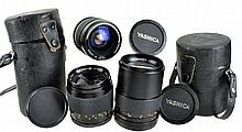(3) Pcs. Yashica Lens Lot w/ Cases