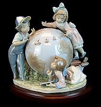 Lladro Porcelain Figurine 5847, Voyage of Columbus