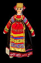 Hand Made Russian Moscovian Folk Clothing Doll