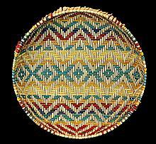 Multicolor Woven Split Fiber Basket Tray