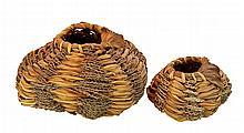 PAIR Mika McCann Fiber Sculpture Craft Basket