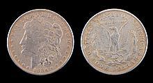 Circulated 1884-CC Morgan Silver Dollar