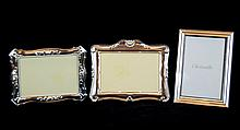 (3) Sterling Photo Frames w/ Christofle, Carrs