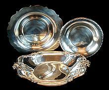 (3) Pcs. Silver Plate Dish / Bowl Lot
