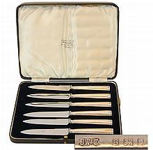 (6) Love & Sons Sterling Silver Fruit Knife Set