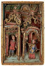 Antique Chinese Puppet Theatre Stage #1