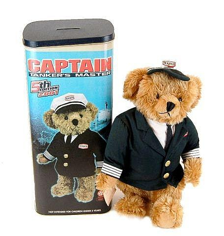 NIB Texaco Stuffed Captain Bear