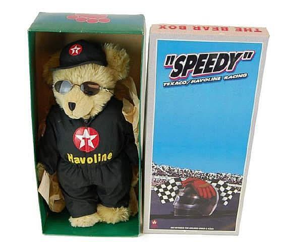 NIB Texaco Stuffed Speedy Bear