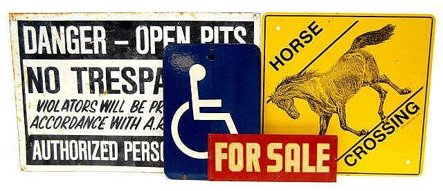 Assorted Tin Signs