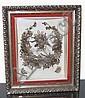 Victorian Era Family Hair Wreath