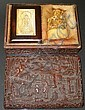 19th Century Carved Ivory Chinese Seal in Cinnabar Lacquered Box