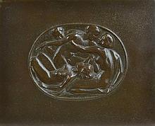 Daniel Stocker (1865-1957) Bronze Nude Plaque
