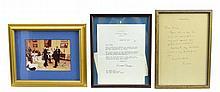3 Pc. Ronald Reagan & Sammy Cahn Letters, Photo