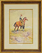 Olaf C. Seltzer (1877-1957) Original Watercolor/Gouache Painting