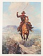Color print by Famed Western artist Frank Tenney