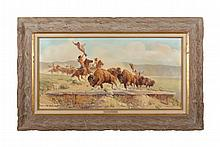 Framed painting by Paul Abram, Jr., Scottsdale, AZ