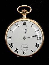 Howard open face watch, 23 jewel, 14KT gold, fine