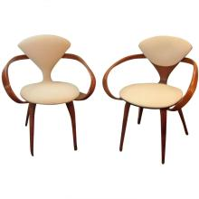 Near Pair of Norman Cherner Pretzil Chairs