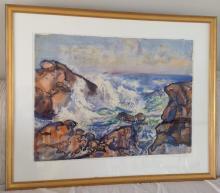 Sea Scape  Watercolor by Robert Blair