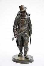 Mignon: statue en bronze 'soldat' (h37)