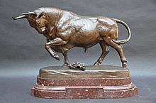 Fr. Rolard: bronze 'Toro Palomo' (bronze 40x70x35)