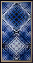 V.Vasarely: litho 'composition' 15/225 (90x45)