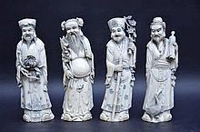 Quatre sages en ivoire (h23)