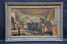 Tableau: h/t 'scène Egyptienne' cadre exceptionnel (90x140)(*)