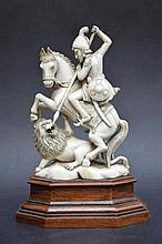 Statue en ivoire 'chasseur' (16x10)