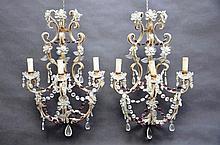 Paire d'appliques decoratives en cristal (56x40)