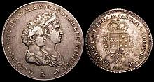 Italian States - Tuscany 5 Lire 1804 Charles Louis conjoined busts Craig 48 VF and a scarce two year