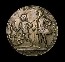 Commemorative and Campaign Medals: Duke of Argyle & Sir Robert Walpole 1741 37mm diameter in pinchbe