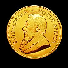 Coins: South Africa Krugerrand 1981 Unc and prooflike