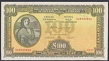 Banknotes: Ireland Republic Central Bank £100, Lady Lavery portrait, dated 4.4.77 series 02B 020823,