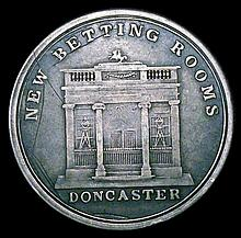Engraved Doncaster Races Silver Ticket or pass 1800 with D&G; engraved on the reverse, Fine with a co