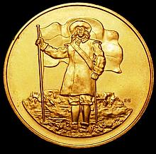 Commemorative and Campaign Medals: South Africa medal 1952, 32mm diameter in gold 300th Anniversary