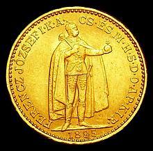 Coins: Hungary 20 Korona 1895 KM#484 A/UNC