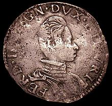 Coins: Italian States - Tuscany Teston Ferdinand II (1621-1670) Fine with some weakness in parts