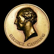 Commemorative and Campaign Medals: George Canning - Inauguration of the Monument Buenos Aires 4 Dece