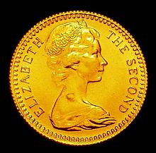 Coins: Rhodesia Ten Shillings 1966 Gold KM#5 BU