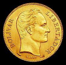 Coins: Venezuela  20 Bolivares 1912 Y#32 UNC
